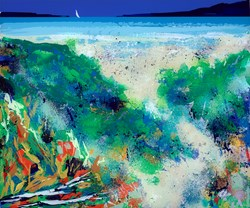 The Feel of Sand Between Your Toes by Duncan MacGregor - Original sized 37x33 inches. Available from Whitewall Galleries